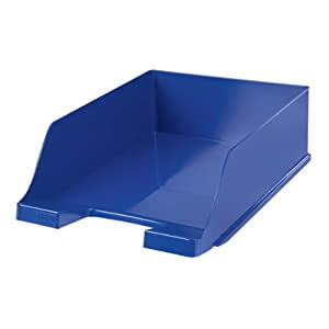 Han XXL 255 x 348 x 105mm C4 Size Deep Sided Letter Tray - Blue