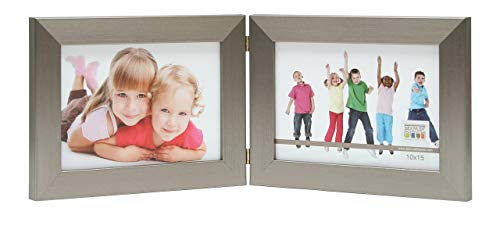 Argent/é 9x13cm horizontal ou vertical Support de d/écoration Yuda Cadre photo