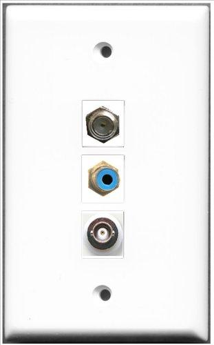 RiteAV-1Port RCA blau und Accessoires, 1Port, F-1Port BNC Wall Plate Rca Modular Wall Outlet