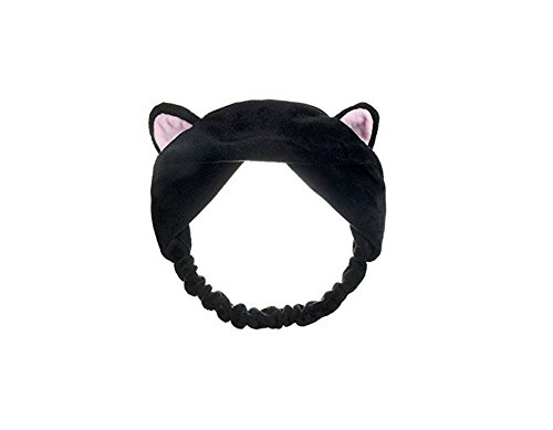 Preisvergleich Produktbild 1PCS Lovely Cat 's Ohr Haarband Stirnband Haarspange Kopfschmuck Haarreif Haar Zubehör für Waschen Gesicht und Make Up (schwarz)