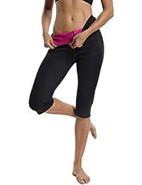 61c8e0e0876a51 FITTOO Pantalon Sudation Femme Legging Minceur Néoprène Transpiration Sauna  Amincissant Sport ...