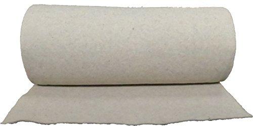 Nadelfilz aus 100 % Schafschurwolle 250g/m², 1,00 m breit 2,50 m lang, ca. 2,5 mm dick, 2,5 m², (EUR 4,38/m²), Naturfaser, 100 % biologisch abbaubar, waschbar, Öko-Tex Standard 100, Produktklasse 1, Wollfilz, Nadelvlies, Patchworkvlies, Meterware geeignet als Einlage für Patchworkdecken, Tagesdecken, Stepparbeiten, Quiltarbeiten usw. …