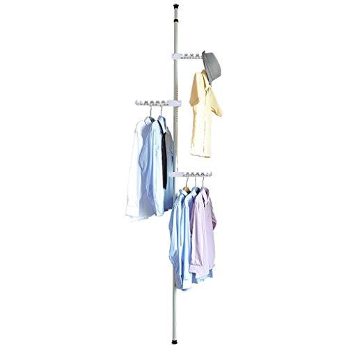 GYJ Kleiderständer Kleiderständer Kleiderhaken Einfache Bodenart Weiß Einfache und Zeitgenössische Moderne Schlafzimmer Wohnzimmer Balkon, 6 Flügel