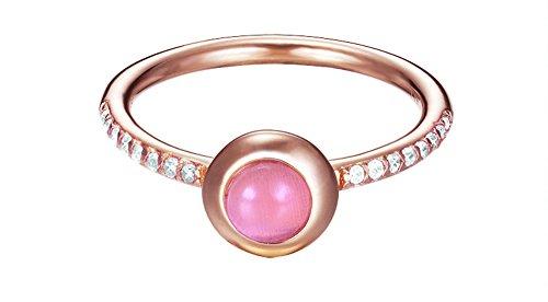 Esprit Damen-Ring Silber vergoldet Zirkonia sparkling petite weiß