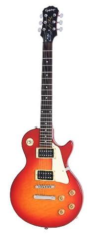 Epiphone Les Paul-100 Electric Guitar, Heritage Cherry Sunburst Finish, 700T Humbucker Pickups, Rosewood Fretboard, Mahogany Body, Maple Top, 24.75 scale