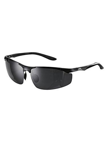 Preisvergleich Produktbild Amexi Herren Sonnenbrille UV400 Schutz Polarisiert Superleichtes Rahmen Outdoor-Design