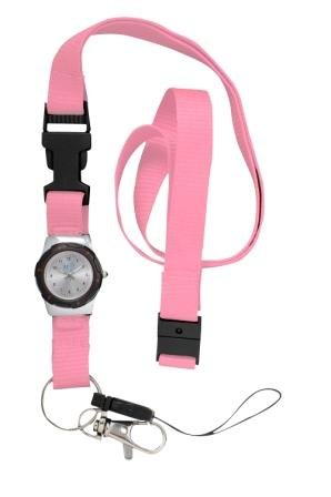 FunkyFobz Taschenuhr, mit Umhängeband, Pink