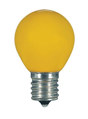 Satco S9166 LED S11 Keramik Gelb mittlere Base Glühbirne, 1,2W