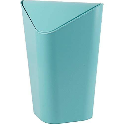 oor Environmental Papierkorb Office mit Deckel Warenkorb kreativ Druck Circle Square Papierkorb Home Badezimmer Wohnzimmer Schwingen Cover Papierkorb. (Farbe: A) (Farbe: B) - B ()