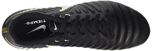 Nike Tiempo Ligera Iv Ag-Pro, Chaussures de Football Homme, Black/White-Laser Orange Volt Noir (Black/White-Black-Metallic Vivid Gold)