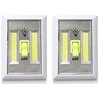 Mespoo COB LED Nachtlicht Wandschalter, 2er-Pack Wandleuchte, batteriebetriebene LED-Nachtlichter, Unterschrank... preisvergleich bei billige-tabletten.eu