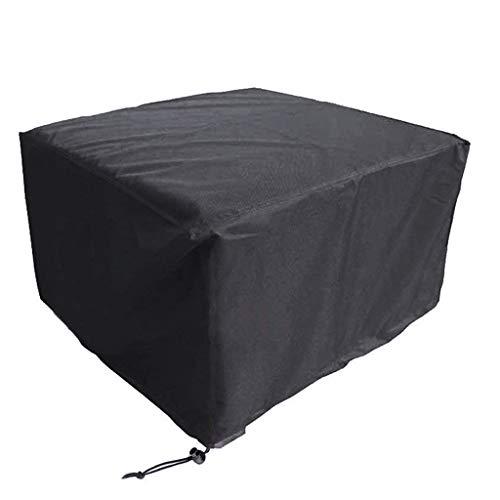 Im Freien Abdeckung (Zelte Outdoor Outdoor Garten Rattan Möbel Abdeckung Im Freien Wasserdichte Tisch Dining Set Staubdicht Blockieren Regen und Schnee 210 T Oxford Tuch (Farbe : SCHWARZ, größe : 274×208×58cm))