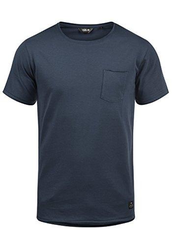!Solid Andrej Herren T-Shirt Kurzarm Shirt mit Rundhalsausschnitt Aus 100% Baumwolle, Größe:L, Farbe:Insignia Blue (1991) (Herren-t-shirt Blue)