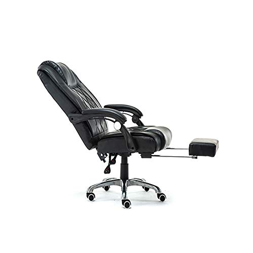 NSCHJZ Ergonomisches Computerstuhl Chefsessel Bürostuhl Schreibtischstuhl Drehstuhl liegendes Design 160º Verstellbare Rücklehne h Einziehbare Fußstütze Ideal für Zuhause & im Büro -