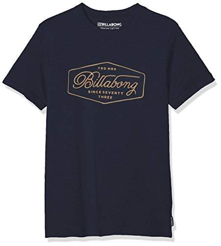 BILLABONG Jungen Kurzarm-T-Shirt Trademark SS, Navy, 10, N2SS09 BIP9 21 -