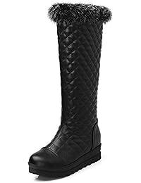 Brooklyn Walk Big Size 34-42 Winter Plush Shoes Women Leisure Knee High Waterproof Snow Boots Platform Wedges...