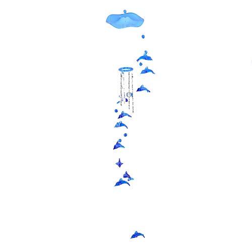 Ellepigy Drehen Handgemachte Runde Netto Windspiele Weihnachten Kreative Geschenke Zimmer Dekor (Delfin blau) -