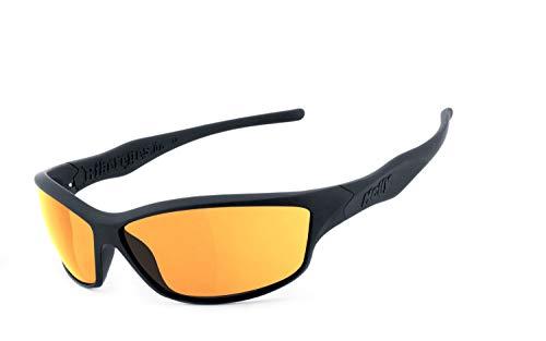 Helly® - No.1 Bikereyes® | H-FLEX®- unzerbrechlich, UV400 Schutzfilter, HLT® Kunststoff-Sicherheitsglas nach DIN EN 166 | Bikerbrille | Brillengestell: schwarz matt, Brille: fender 2.0