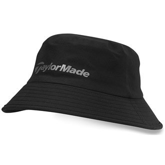 2015 TaylorMade Storm Water Resistant Stretch Fit Men's Golf Bucket Hat Black Large/XL
