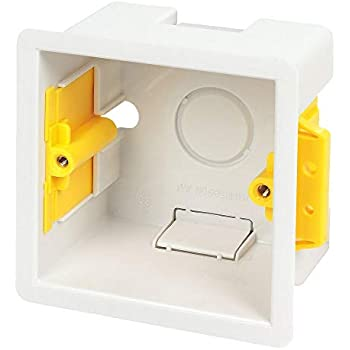 2-Gang Encastré Montage Dry Doublure//Mur-BACK BOX//Pattress Box 35 mm-Blanc