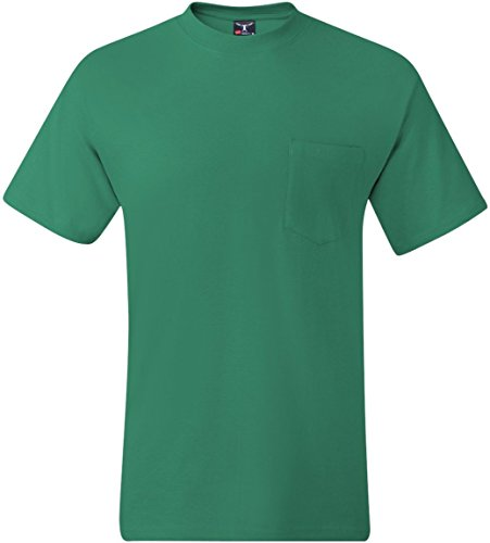 Hanes Men's Beefy-T T-Shirt With Pocket Kelly Green