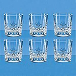 Blenheim Whisky Tumbler Full Cut 24% Bleikristall Glas, 6 -