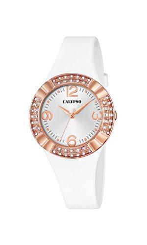 Calypso-Orologio da donna al quarzo con Display analogico e cinturino in...