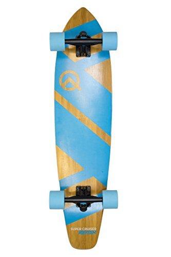 Quest Skateboards Quest Super Cruiser REMIX Longboard Skateboard, Ocean Blue, 36 by Quest Skateboards