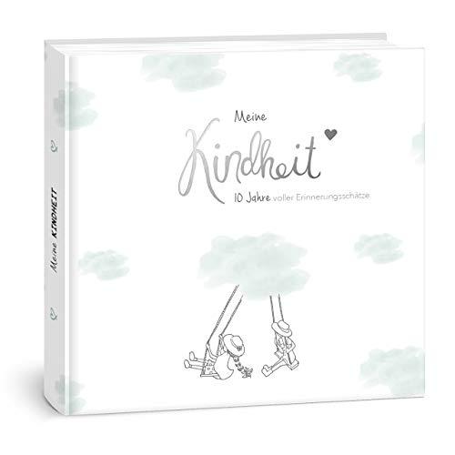 mintkind I Meine Kindheit Erinnerungsalbum I deine ersten 10 Jahre I Fotoalbum Kinder Geschenke zur Geburt Babybuch zum Eintragen Tagebuch Kinder