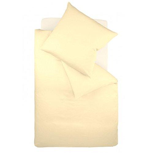 fleuresse Interlock-Jersey-Bettwäsche colours vanille 215 Größe 135 x 200 cm