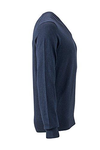 James & Nicholson Herren Pullover Blau (Navy-Melange)