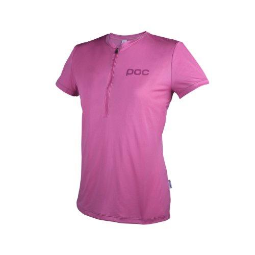 POC Trail Light T-Shirt zippé Femme Pewter Rosa (Sulfur Pink)