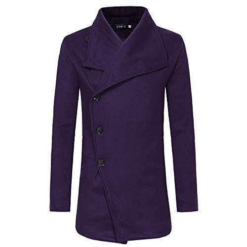 Zegeey Herren Herbst Winter grabenstaubmantel warme Jacke beiläufige Mantel dünne Lange Graben knöpfe mäntel (Selbstgemachte Star Wars Kostüm Männer)