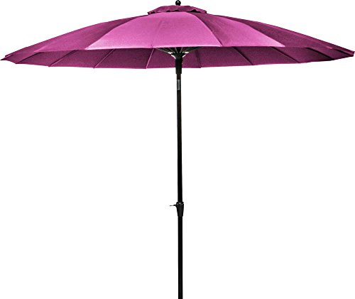 Parasol Alu Fibre Pagode Us 300/18 Inclinable Framboise