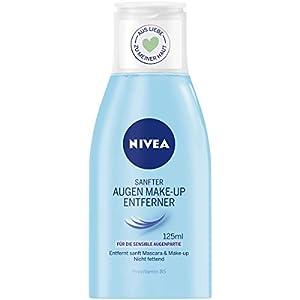 Nivea Sanfte Augen Make-Up Entferner Lotion für wasserlösliche Mascara und Make-Up, 1er Pack (1 x 125 ml)