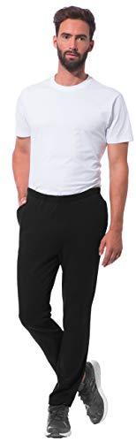 Morgenstern Hausanzugshose Herren aus Baumwolle Loungewear Sport Hose leicht leger für Handball in XL in Schwarz Männerschlafhose Herren dunkel