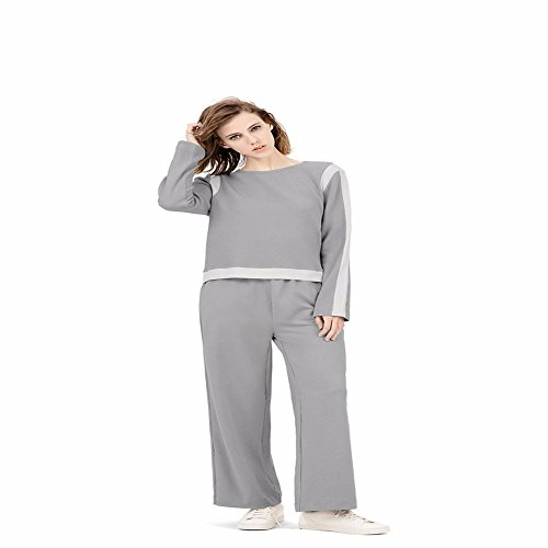 in autunno le donne pigiama, cotone manica lunga gamba dei pantaloni larghi a casa vestito xl
