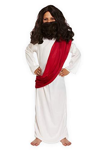 Kostüm Joseph Kleinkind - christmasshop Weihnachtskrippe Kinder Joseph Kostüm - White/Red - 79