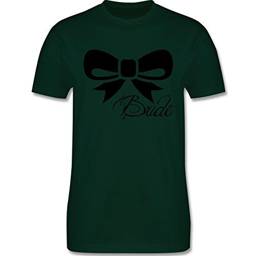 Hochzeit - Schleife Bride - Braut - Herren Premium T-Shirt Dunkelgrün
