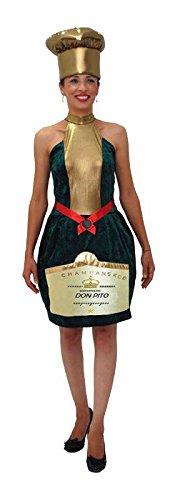 Kostüm Sekt, Gr. 42/44 (Champagner Flasche Kostüme)