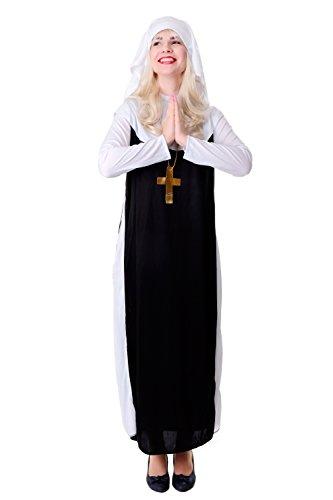 Kostüm Katholische Nonne - DRESS ME UP - Kostüm Damen Damenkostüm Nonne Schwester Oberin katholisch Gr. S / M L210