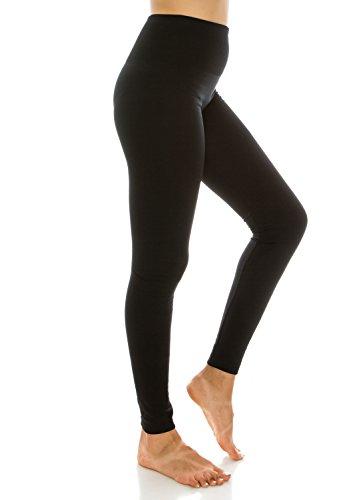 Hohe Taille mit Fleece-Futter Leggings Regular und Plus Size für Frauen und Junioren 2PK Black Navy