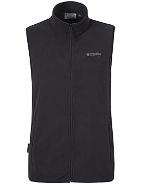 Mountain Warehouse Chaleco Alder para hombre - Abrigo ligero, chaleco cómodo, felpa de secado rápido, abrigo con...