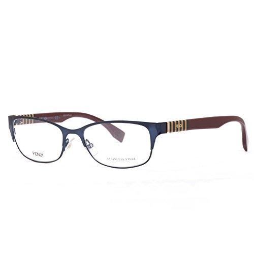 Fendi Montures de lunettes 0033 Pour Femme Blue / Bordeaux 0ZG: Blue / Bordeaux