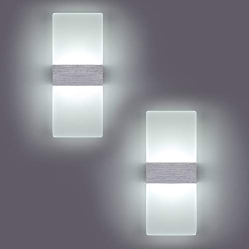 Yafido 2 * 12W Aplique Pared Interior LED Yafido Blanco