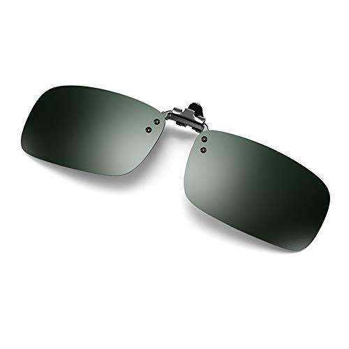 YIWU Brillen & Zubehör Sonnenbrillen Clip Sonnenbrillen Herrenbrillen Polarisiertes Fischen Nachtsicht Anti-High Beam (Color : Dark Green)