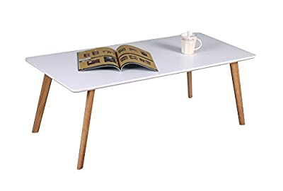 ASPECT Avignon Rectangular Wooden Coffee Table, White - low-cost UK light shop.