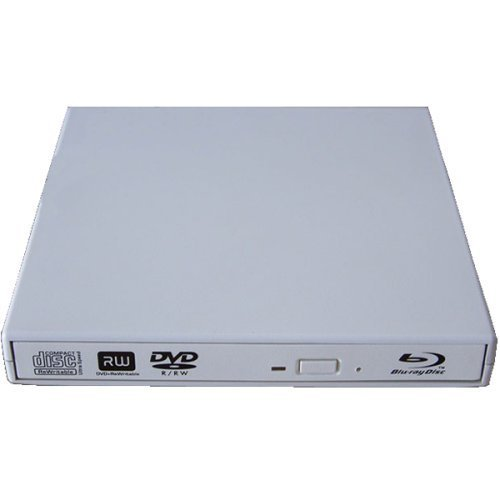 Epartsdom@usb 2.0 Slim Usb External Blu-ray Player External Usb Dvd Rw Laptop Burner Drive White
