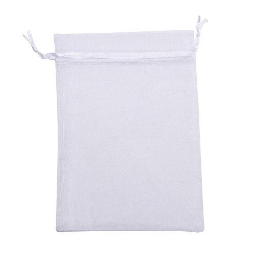 Organza Gift Bags Wedding Favor Bags Jewelry Pouches, Set of 50, White