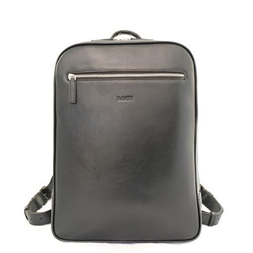 RAMES Business Rucksack | Aus Nappa-Leder | Für 15 Zoll Laptop | 12 Liter Volumen | Herren/Damen Backpack | Mit Reißverschluss und Innentaschen | Handarbeit/Nachhaltig | Maße (BxHxT): 30x40x11 cm